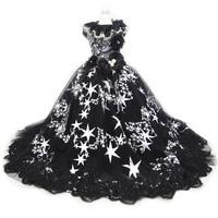 Luxury Dog Wedding Dress Trail Lace Star Pet Cat Dog Princess Party Dress Halloween Dog Costume