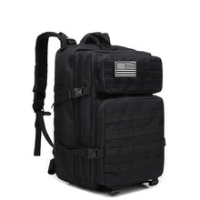 45L Outdoor Backpack Military Tactical Assault Pack Army Molle Waterproof Bug Out Bag Small Rucksack for Hiking Camping Hunting цена 2017