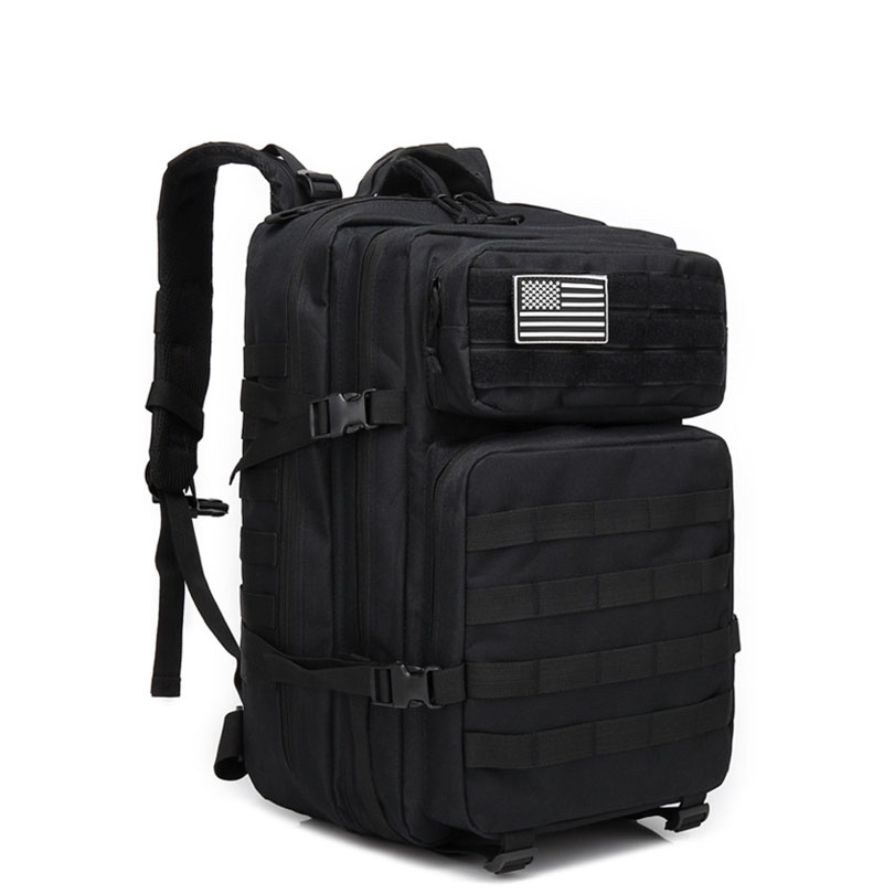 45L sac à dos extérieur militaire tactique assaut Pack armée Molle imperméable à l'eau Bug Out sac petit sac à dos pour randonnée Camping chasse