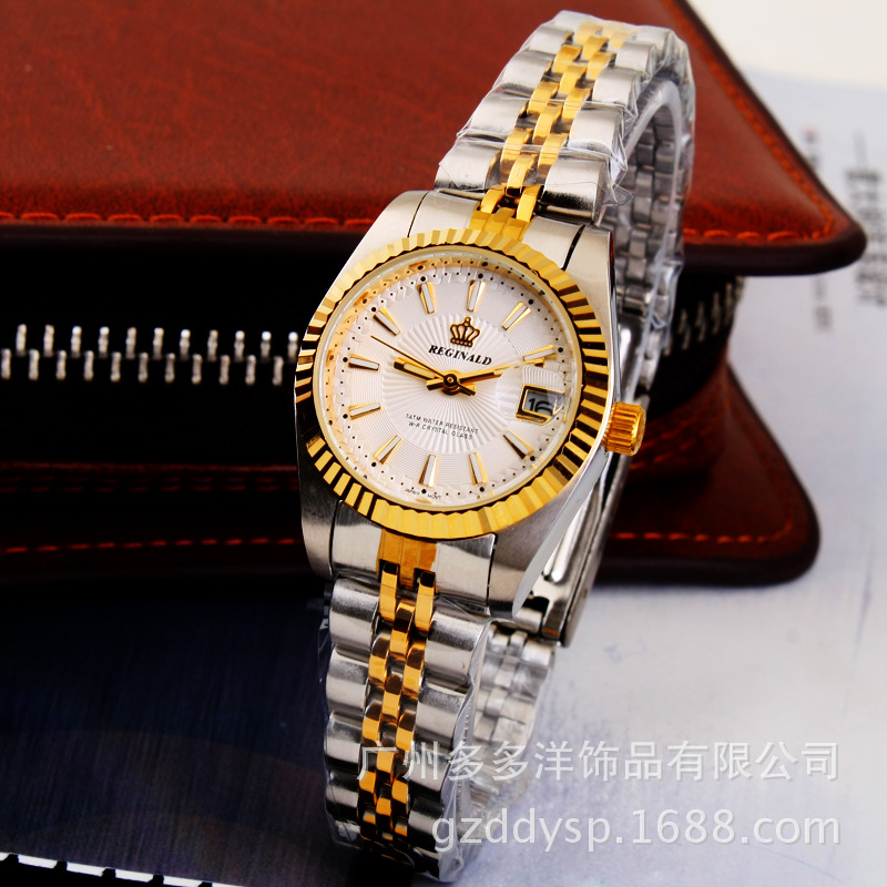 Relogio Feminino Crown Luxury Brand Watches Ladies Full Gold Steel Women Dress Q