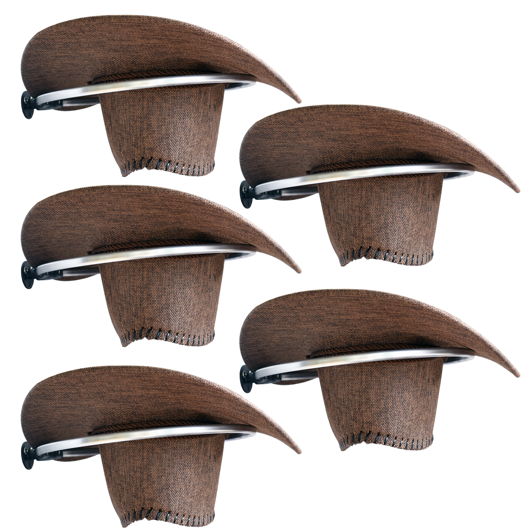 Cowboy Hat Rack Cowboy Hat Holder Organizer 5/PK - No Falling - Big Round Rack