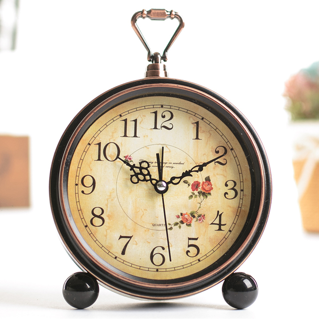 Old type Antique Style Clocks desk clock Retro Iron aircraft Model gift  Bedroom Table Clock - Old Type Antique Style Clocks Desk Clock Retro Iron Aircraft Model