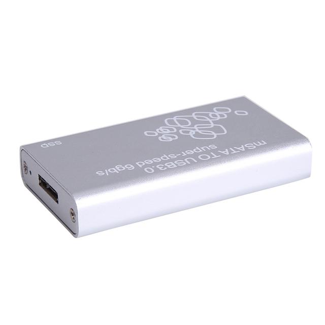 Mini SSD mSATA para USB 3.0 Caixa de Disco Rígido Externo Recinto drive de estado sólido Caso com Cabo USB/Flanela Saco/Pacote de Parafusos