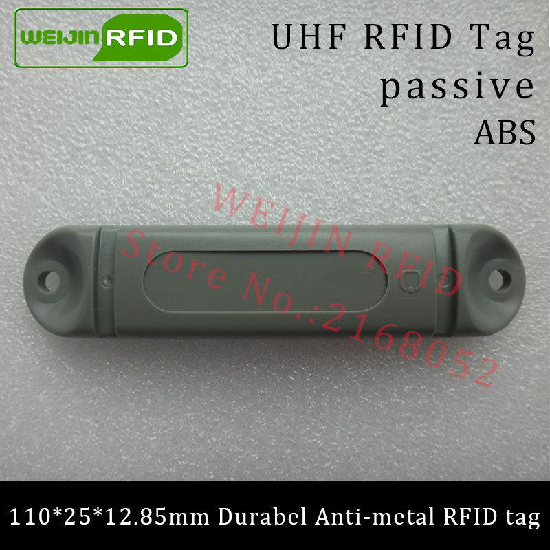 UHF RFID anti-metal tag 915mhz 868mhz M4QT EPCC1G2 6C 110*25*12.85mm durable ABS stocking shelves smart card passive RFID tags uhf rfid anti metal tag 915mhz 868mhz higgs3 epcc1g2 6c 13 5 21 12 8mm durable abs stocking shelves smart card passive rfid tags