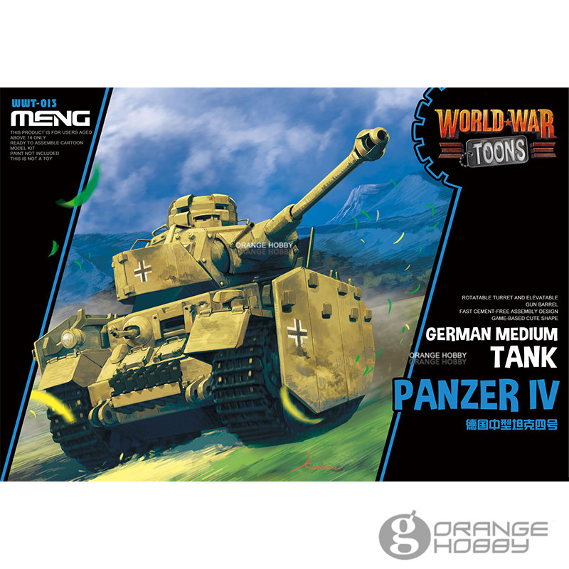 Meng WWT-013 German Medium Tank Panzer IV Q Edition Plastic Assembly Model Kit