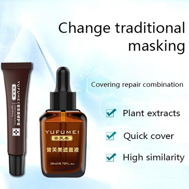 New Pro Scar Tattoo Skin Repair Cream Concealer Set Waterproof Kit for Coverage Vitiligo Cover Hiding Spots Birthmarks