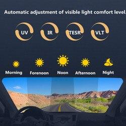 50% 75% VLT Sunice folia na szyby samochodowe folia fotochromowa Nano ceramiczny odcień słoneczny osłony przeciwsłoneczne do samochodu odcień akcesoria samochodowe o szerokości 50cm w Okno przednie od Samochody i motocykle na