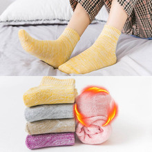 1 Pairs/Lot Winter Thickening Terry Socks Ladies Solid Color Versatile Atmosphere Matching Warm Women 5 Colors