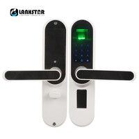 LANXSTAR Smart отпечатков пальцев паролем для дома межкомнатные двери Спальня деревянные двери замок в кабинете замок электронный двери ручной з