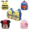 Nova bonito dos desenhos animados crianças mochila de pelúcia brinquedo mini saco de presentes das Crianças do menino da menina do bebê do jardim de infância da escola estudante sacos linda Mochila
