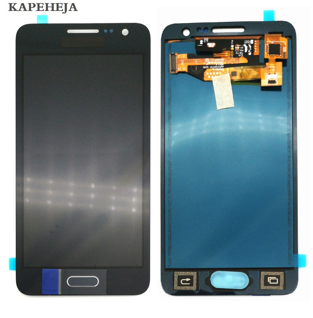 Pode ajustar o brilho do LCD Para Samsung Galaxy A3 2015 A300 A3000 A300F A300M LCD Screen Display Toque Digitador Assembléia
