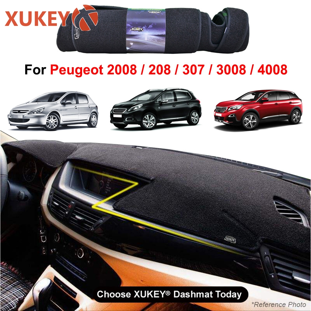 Dash Cover Mat Dashmat Dashboard Cover For <font><b>Peugeot</b></font> <font><b>3008</b></font> MK2 4008 2 307 307cc 307sw 2012 2013 2014 2015 <font><b>2016</b></font> 2017 2018 2019 2020 image