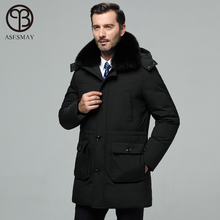 Asesmay brand mens winter jackets and coats high quality white duck dow
