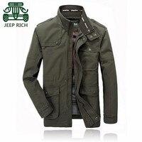 RICH AFS JEEP Autumn Spring 2015 Men S Brand Cargo Cotton Casual Jacket Wholesale Price 4xl