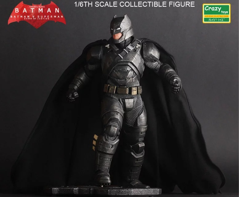 Crazy Toys 1:6 Batman v Superman: Dawn of Justice The Dark Night Batman Armored / Blinde Collectible Figure Toys 30cm