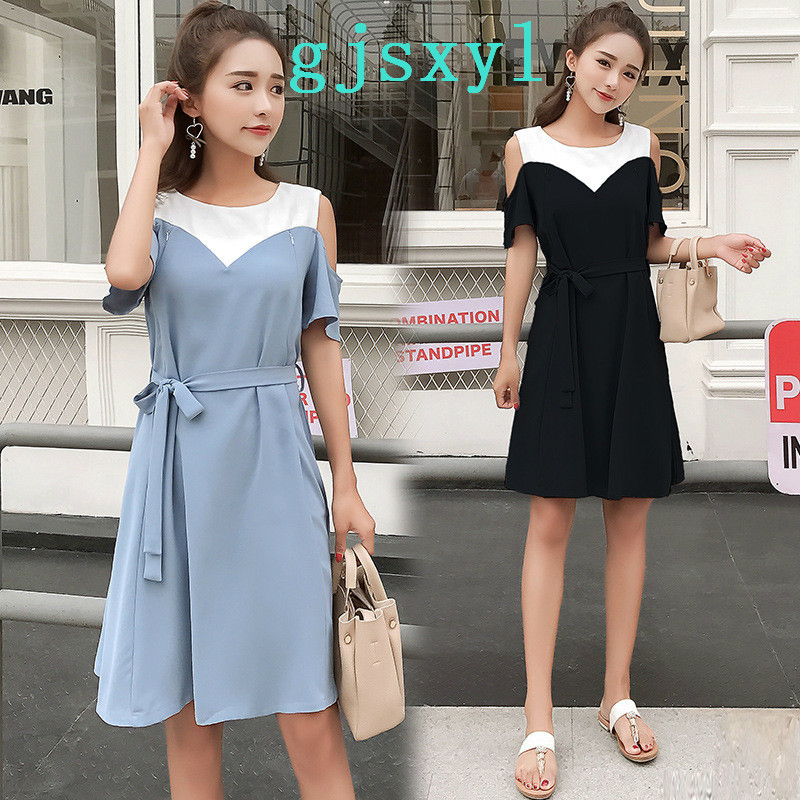 Real Time Pregnant Woman Strapless Lactation Dress Summer 2018 New Pattern Long Postpartum Go Out Spelling Color Nurse Skirt