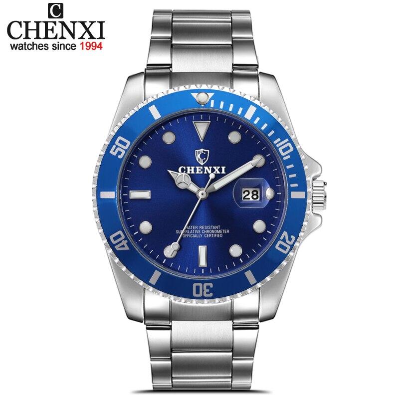 CHENXI Marca Militar Reloj Deportivo Casual hombres de La Manera Completa de Acero Inoxidable de Cuarzo Resistente Al Agua Reloj de Pulsera relogio masculino
