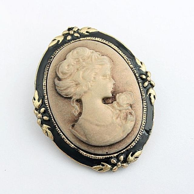 Womens fashion style queen head portrait brooch vintage cameo womens fashion style queen head portrait brooch vintage cameo elegant brooch for antique wedding jewelry 1pc mozeypictures Choice Image