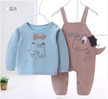 Boys and girls baby wear a nine point suspender sui