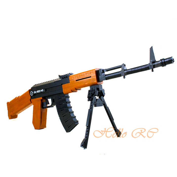 Ak47 Assault Rifle Building Blocks Toys 617pcs P22706 Educational