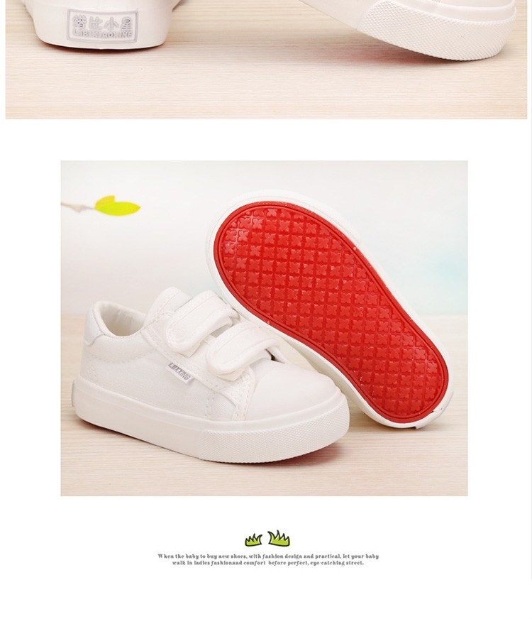 Beautiful Baby Girl and Boy White Canvas Shoes 6 Colors kids Casual Shoes Flat and Durable Toddler Little Girl Sneakers 7