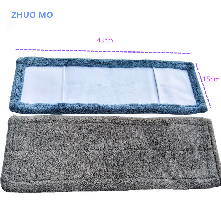 5pcs 43*15cm Thickened absorbent coral Microfiber fleece Mop Head Cloth cover The Mop To Replace Cloth Household Cleaning