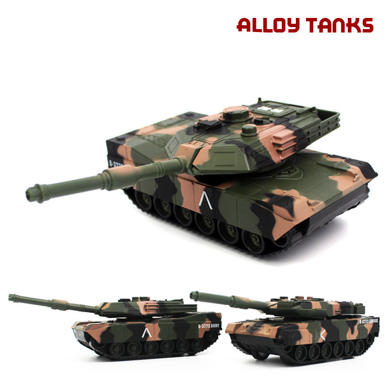 24 Scale Alloy Pull Tank Model,metal Castings,advanced Collection Model,free Shipping Toys & Hobbies High Simulation Track Tank Chariot,1