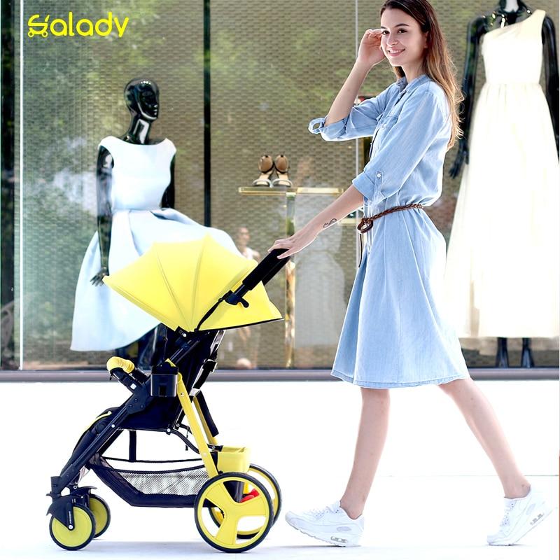 Sld baby stroller portable car umbrella hadnd baby summer folding stroller 5.9kg weight baby stroller baby stroller ultra light portable shock absorbers bb child summer baby hadnd car umbrella