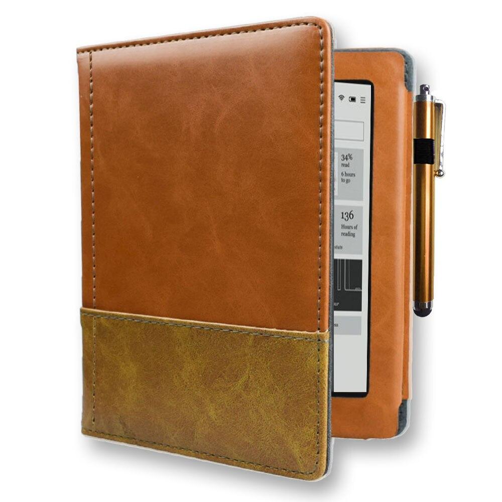 Capa de livro de alta qualidade para capa kobo aura n514 modelo ereader ebook caso com flip book para rakuten aura 6 polegada 2013