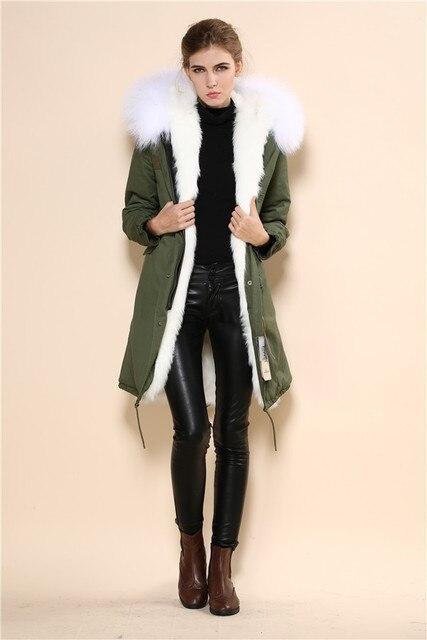 Aliexpress.com : Buy 2015 rabbit fur lined parka fox fur coat fur