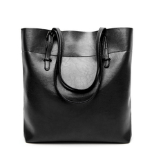 Hot 2017 New Arrive Female Oil Leather Bucket Handbags Tote Women Messenger Bags Ladies Fashion Leather Portable Shoulder Bag the new leather cylindrical lychee pattern handbags simple fashion ladies boston leather gloves pure color portable messenger ba