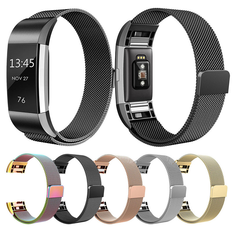 New 2018 Milanese Stainless Steel Watch Band Strap Bracelet For Fitbit Charge 2 Smart Watch Stylish Replacement Wrist Band quality bracelet stainless steel strap 18mm for fitbit charge 2 smart watch metal band with adapter