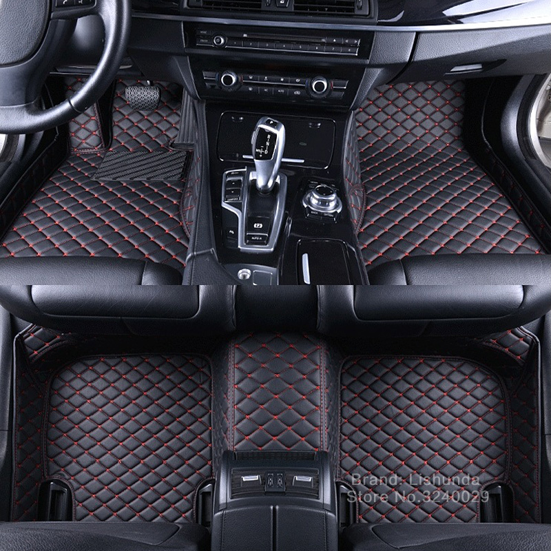 Custom made car floor mats for Audi A6 C5 C6 C7 A4 B6 B7 B8 Allroad A7 A8 A8L Q3 Q5 Q7 3D car-styling carpet liners