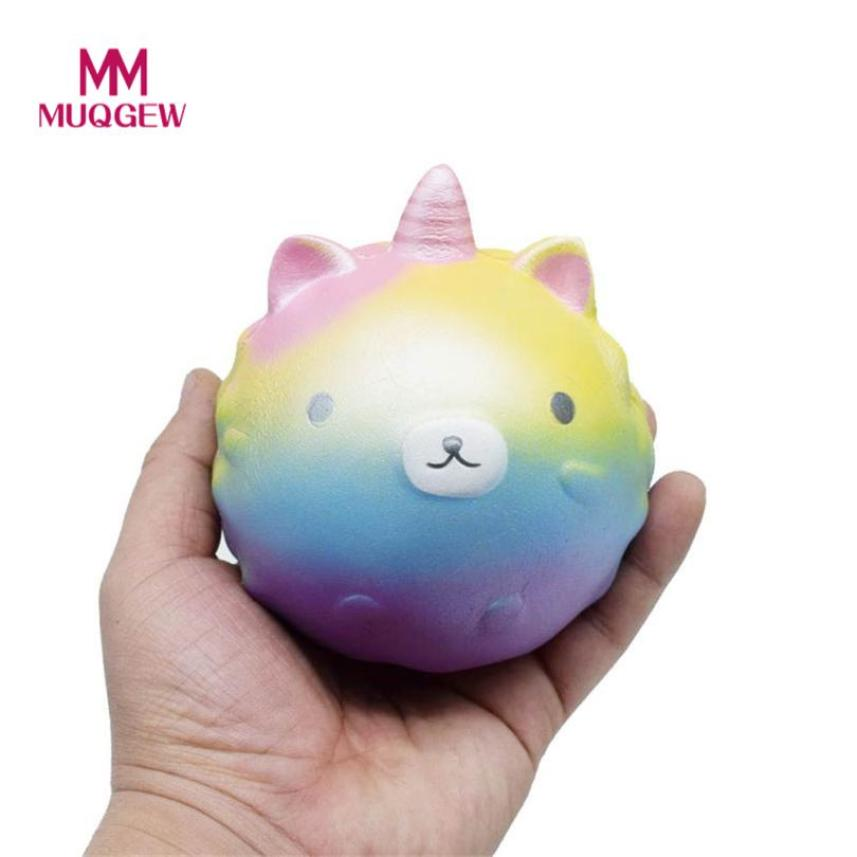 Squishy Horns Bear Squishy Decor Slow Rising Kid Toy Squeeze Relieve Gift newest style hot sale stress ball toys for children