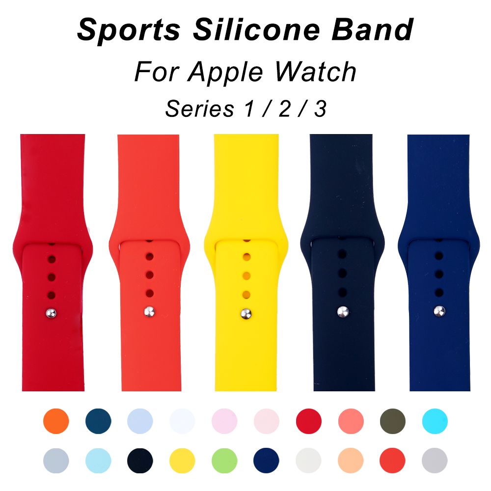 UEBN Sports silicone Strap Band for Apple watch 38mm 42mm Replace Bracelet Strap watchband for iWatch Series 1/2/3 bands sport silicone band strap for apple watch nike 42mm 38mm bracelet wrist band watch watchband for iwatch apple strap series 3 2 1