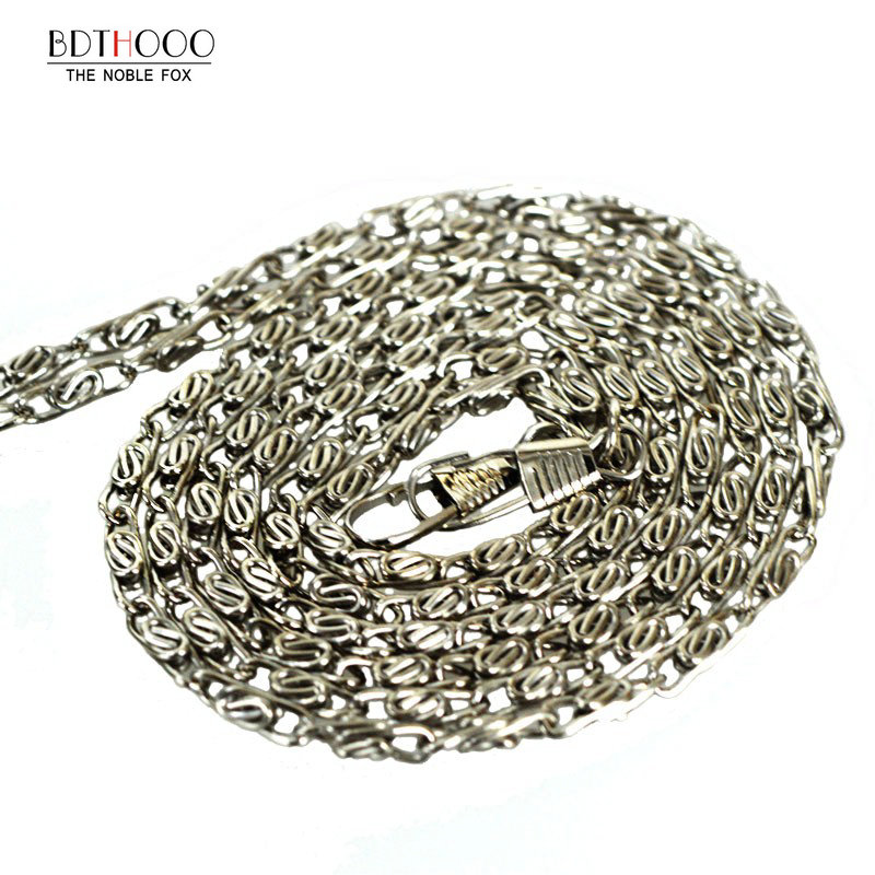 120cm Replacement Metal Chain For Shoulder Bags Handle Crossbody Handbag Antique Bronze Tone DIY Bag Strap Accessories Hardware thinkthendo new woven bags chain strap replacement for purse handbag shoulder bag accessories faux leather metal