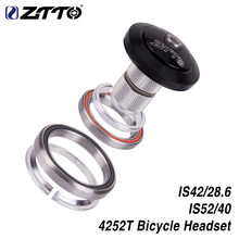 Ztto headset de bicicleta mtb de estrada, 42mm 52mm cnc 1/8