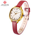 JULIUS Love Bracelet Watches Women Dress Fashion Leather Montres Waterproof Square Ladies Watches Top Brand Luxury wacht JA-928