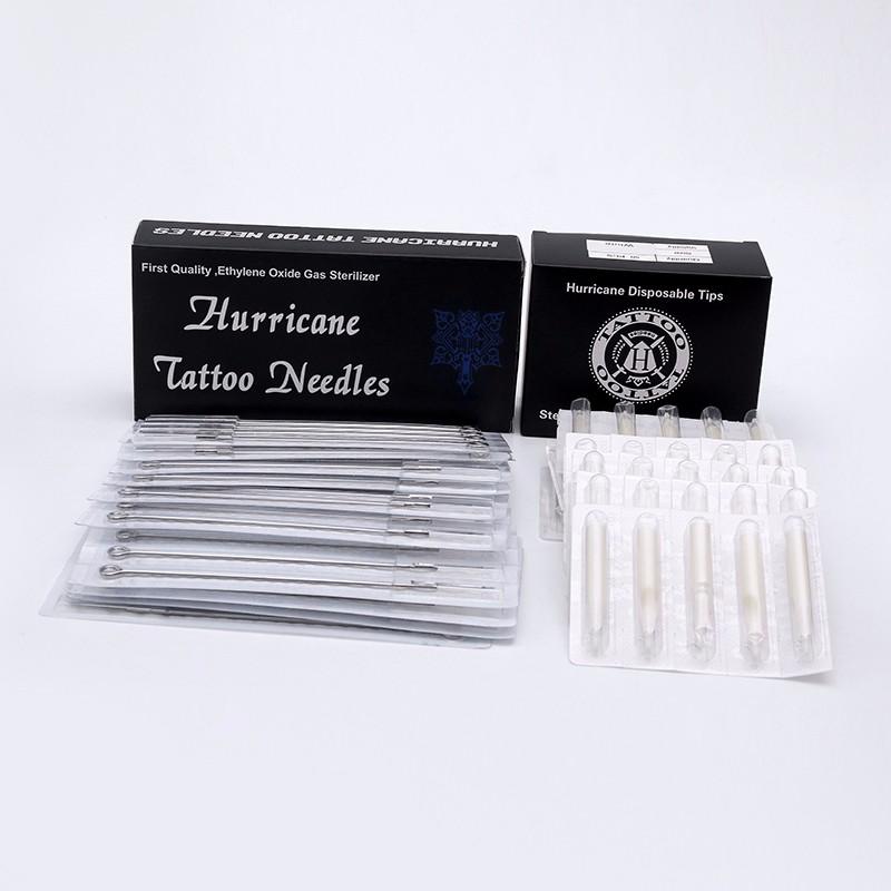 (13M1+13FT) 50PCS Disposable Tattoo Tip Nozzle with 50PCS Tattoo Needles Sterile Disposable Tattoo Machine Kits 5