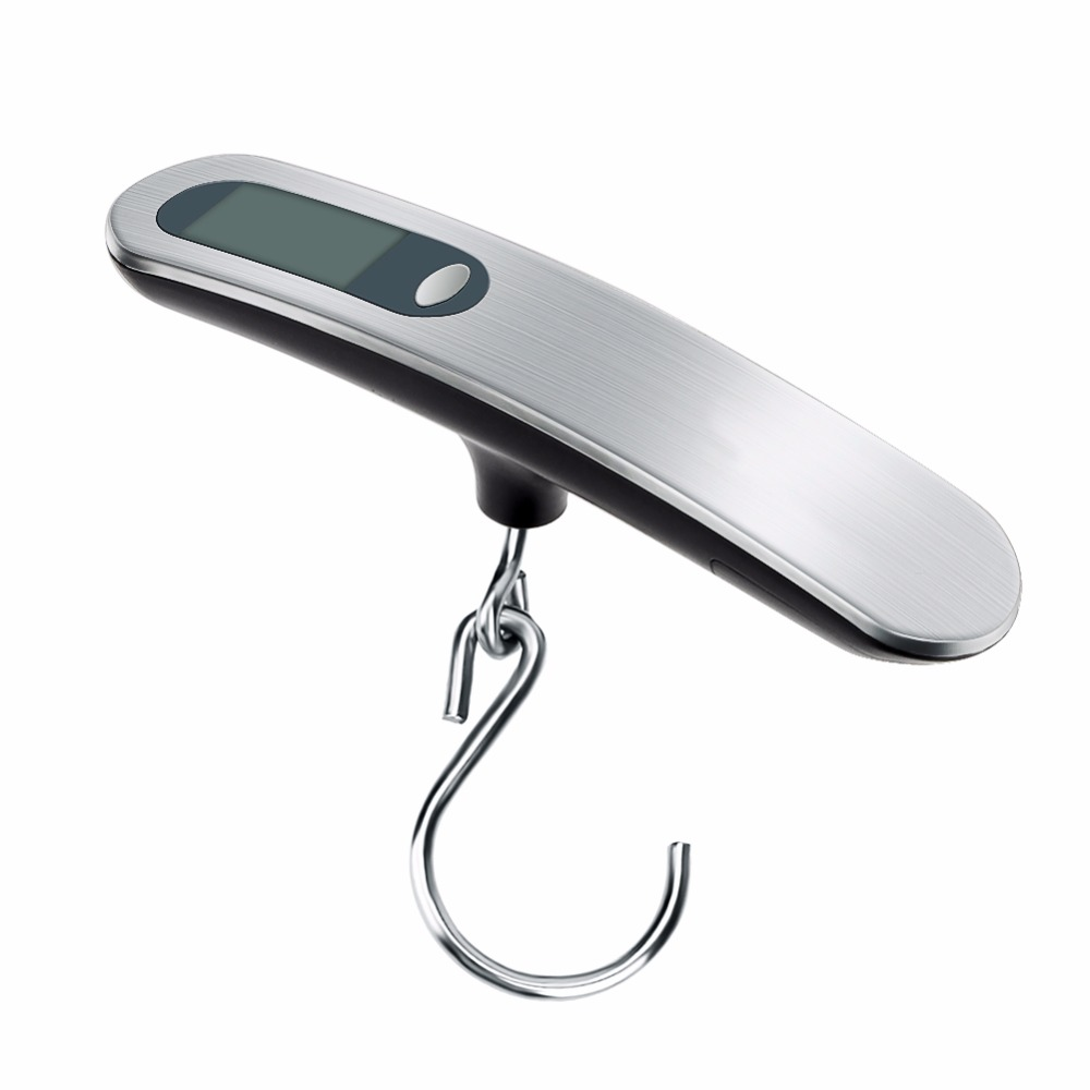Portable 50kg x 10g Mini Electronic Scale Weight Luggage Scale LCD Digital Display Travel Hanging Hook Scale High Quality hot portable 1 3 8 led 0 12w 48lm digital luggage scale black 2 x aaa 10g 50kg