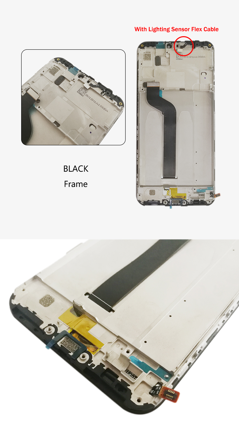"""HTB1cAIcSNYaK1RjSZFnq6y80pXaE 5.84"""" AAA Quality IPS LCD+Frame For Xiaomi Mi A2 Lite LCD Display Screen Replacement For Redmi 6 Pro LCD 2280*1080 Resolution"""