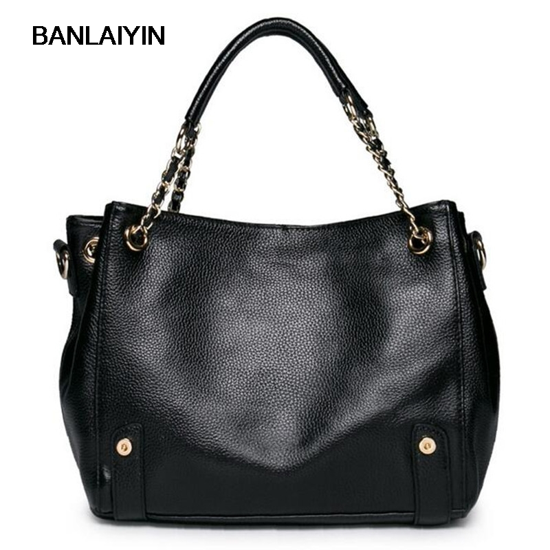 Casual Genuine Leather Handbags Ladies High Quality Real Leather Tote Shoulder Bags For Women Black Fashion Diagonal Bags casual genuine leather handbags ladies high quality real leather tote shoulder bags for women black fashion diagonal bags