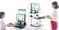 Sit/Stand Desk Riser Three Level Height Adjustable Lightweight Standing Laptop Desk Notebook/Monitor Holder Stand DLJ03