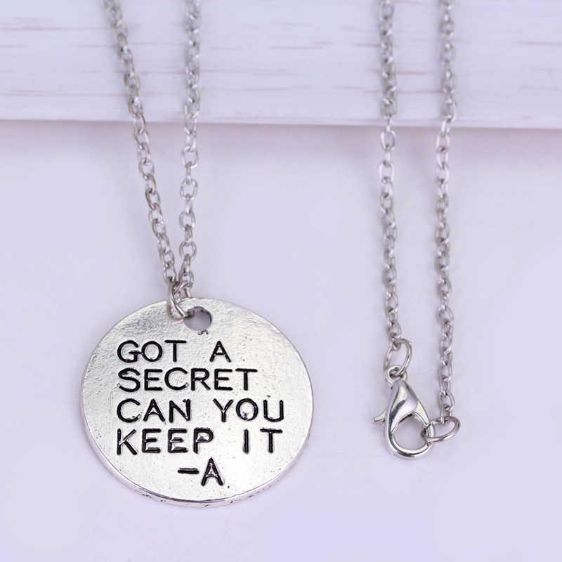 Pretty Little Liars สร้อยคอ Got A Secret Can You Keep It สังกะสีโลหะผสมตัวอักษรเงินจี้เครื่องประดับ /ผู้หญิง
