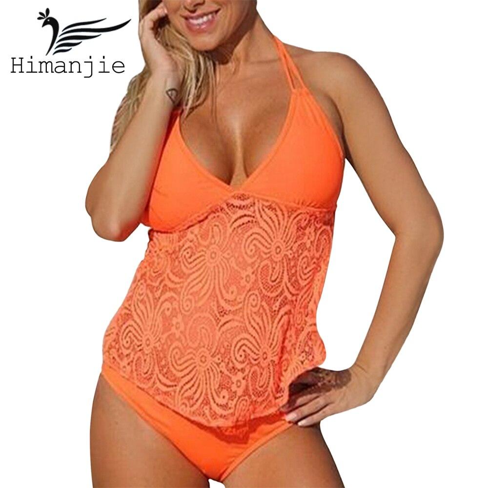 Sexy Plus Size Halter Bikini Push Up Swimwear Women Swim Dress Swimsuit Knitted Floral Brazilian Tankini Beach Wear Bathing Suit endearing halter push up floral bikini and dress swimwear suit for women