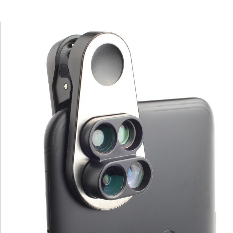 Wide-angle Dual Camera Macro Fish Eyes Telephoto Universal Clip Four-in-one Phon