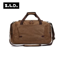 ZUOLUNDUO Large Capacity Men Travel Bags Waterproof Travel Tote Canvas Male Multi function Travel Handbags Shoulder bucket Bags