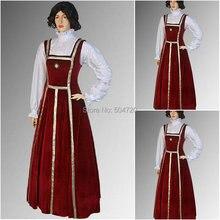 Personalizado madeR-619 Vintage disfraces 1860 s guerra Civil Southern Belle Ball vestido de boda/Vestido gótico Lolita vestidos victorianos