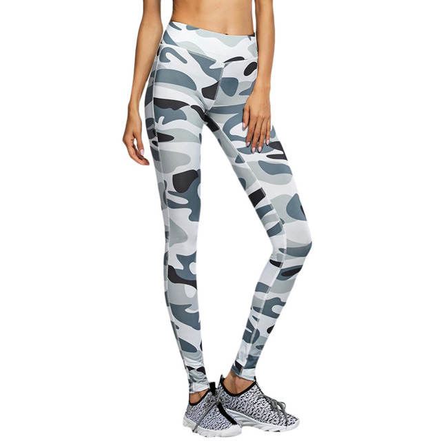 Fashion Womens Spring Autumn Casual Skinny Camouflage printing Female workout leggings High Elastic Skinny Legging Slimming Pant