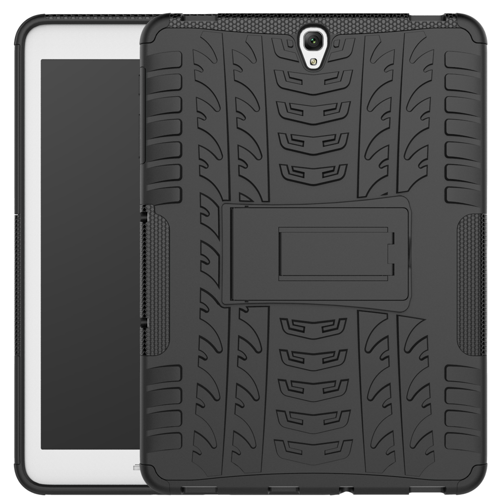 For Samsung Galaxy Tab S3 T820 T825 9.7 Case shockproof hybrid with Stand function Cover Rugged Rubber Armor PC case +stylus